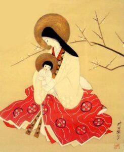 Japonská pravoslavná ikona Ježíše (konec 19. / začátek 20. stol.)