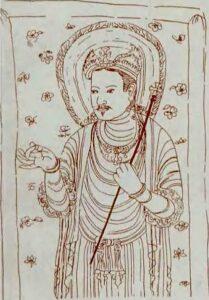 Čínská rekonstrukce nestoriánského Ježíše, 9. stol.