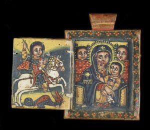 Sv. Jiří, Sv. Marie a novorozený Ježíš, Etopie 18. stol.